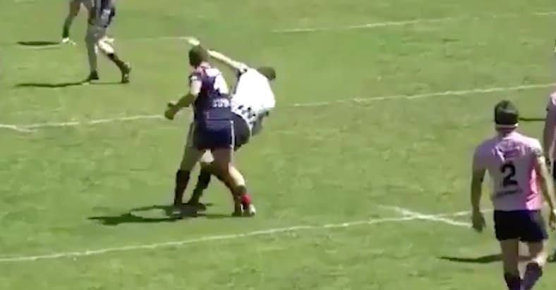 Watch: Shocking Scenes As Rugby Player Knocks Out Referee After Being Red Carded