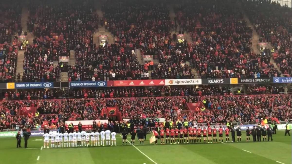 Watch: Spine-Tingling Stuff As Minute's Applause Held For Anthony Foley