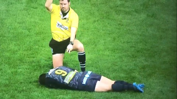 Watch: Uproar As Morgan Parra Brought Back On After Being Knocked Unconscious