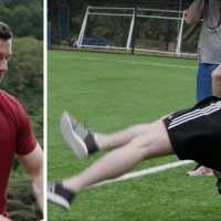 Watch: BOD, Jason Robinson & George Gregan Take On The Dizzy Drop Goal Challenge