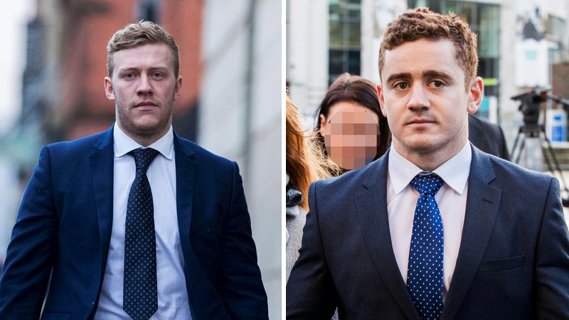 The trial of two Ulster and Ireland International rugby players' opens