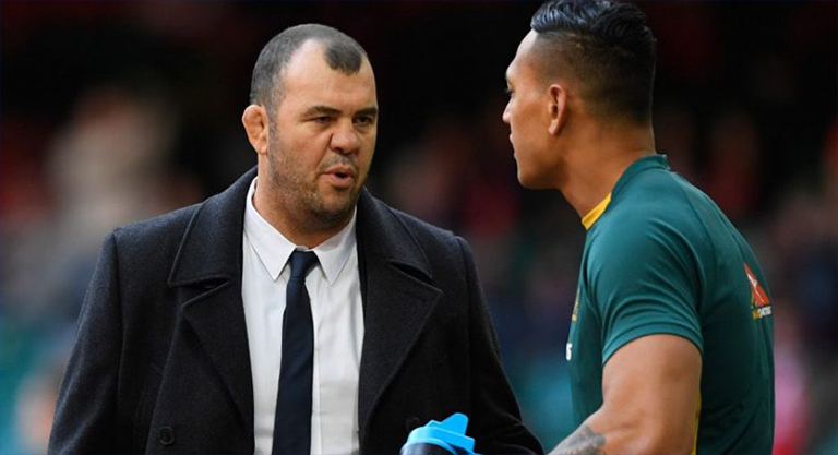 Michael Cheika refuses to criticise Israel Folau after his anti-gay comments
