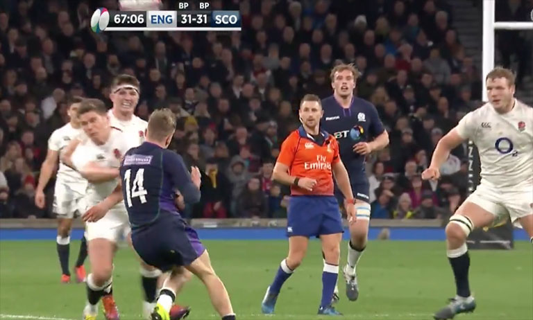 WATCH: Owen Farrell Yet Again Escapes Punishment Following Illegal Shoulder Hit