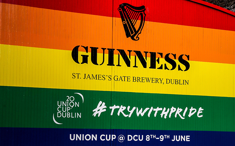 GUINNESS Gates Transformed To Support The 2019 Union Cup In