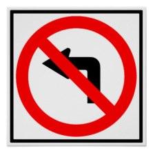 no_left_turn_highway_sign_poster-r20d9e4de5e744bae89e2f3e2d5987d5d_i13_8byvr_324