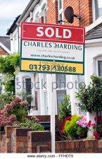 the-marketing-for-sale-sign-boards-of-local-estate-agent-charles-harding-ffhdt9