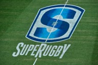 TOKYO, JAPAN - FEBRUARY 25: Detail view of Super rugby logo during the Super Rugby Rd 1 game between Sunwolves and Hurricanes at Prince Chichibu Memorial Ground on February 25, 2017 in Tokyo, Japan. (Photo by Koki Nagahama/Getty Images for SUNWOLVES)