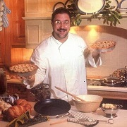 David Ruggerio in the kitchen