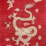 Hand Made Wool Chinese Dragon Rugs by Mer Woven Legends Collection