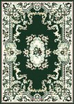 7083 Hunter Green French AUBUSSON Rug