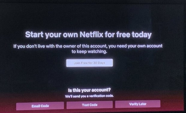 cuentas compartidas de Netflix