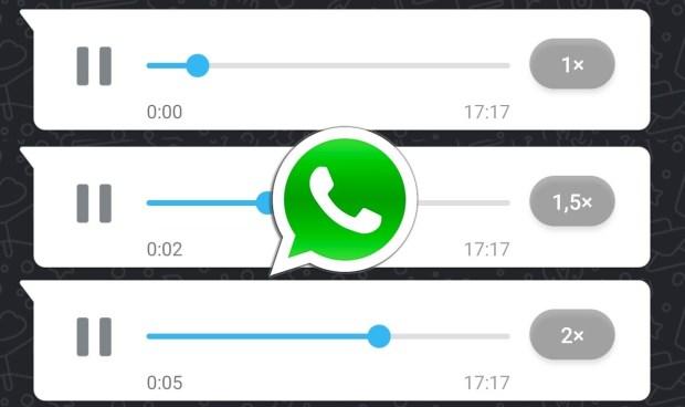 Velocidad de los mensajes de voz de Whatsapp
