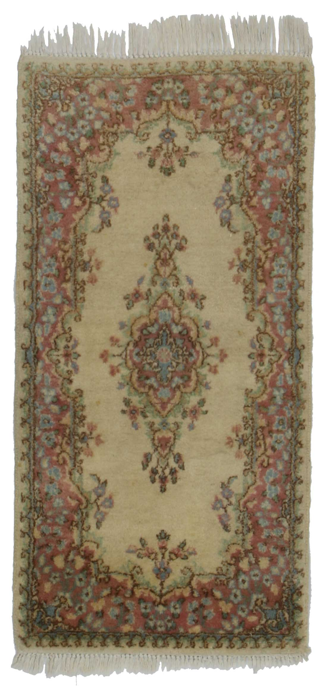 2 X 4 Persian Kerman Hand Knotted Wool Rug 14359