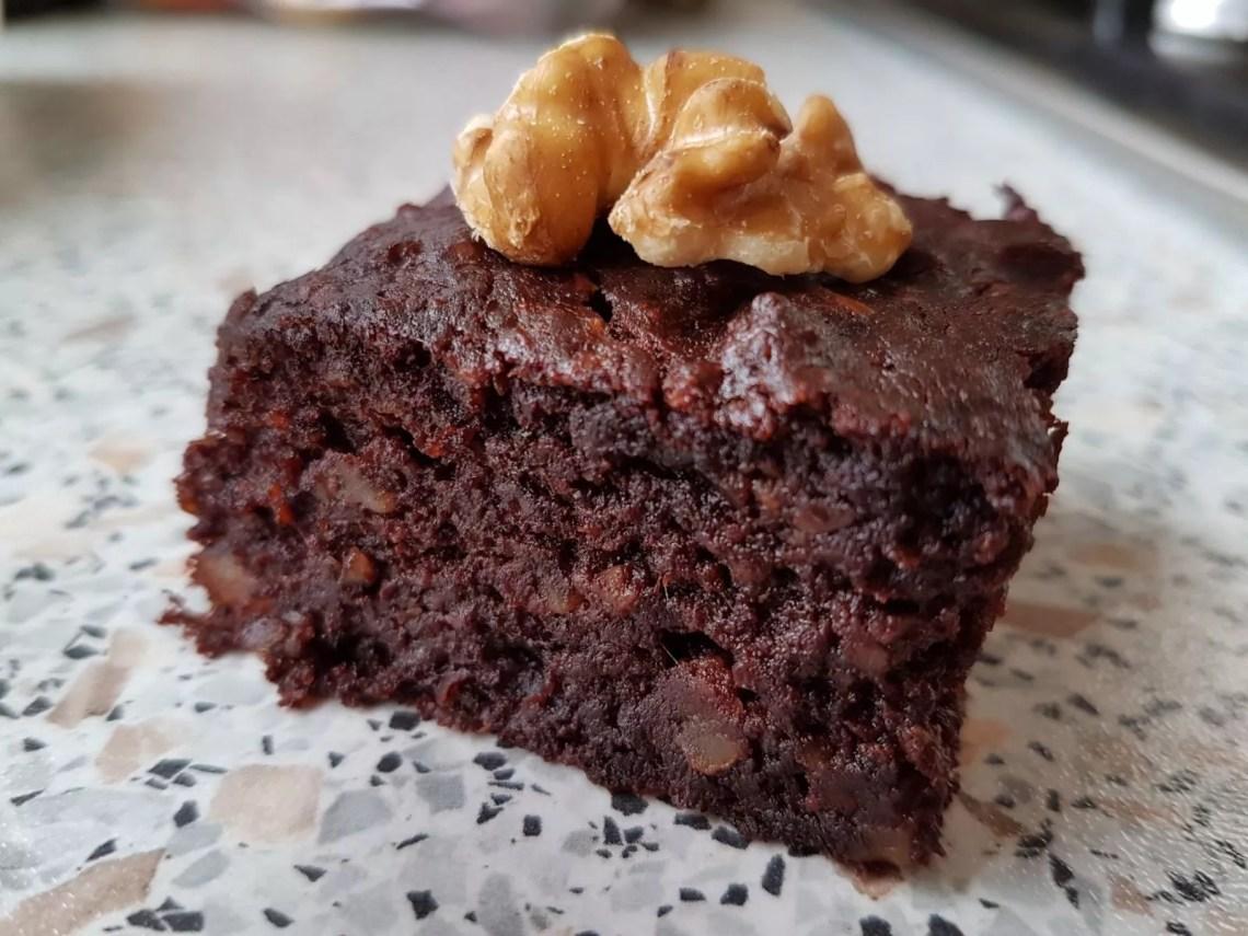 brownie met courgette