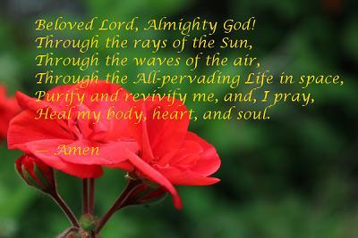 Prayer Nayaz and flower