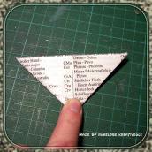 das Dreieck halbiert