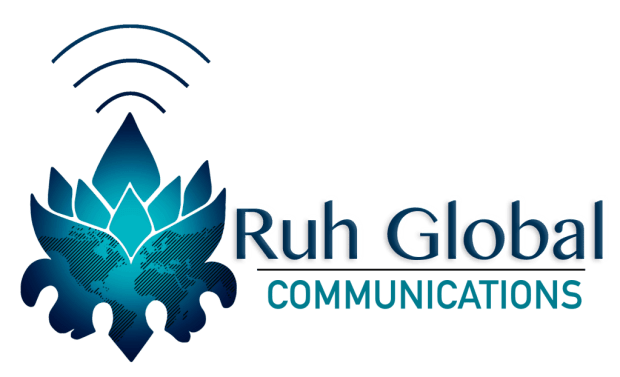 Ruh Global Communications Logo designed by Emily Ha