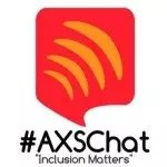 #AXSCHAT Logo. You can learn more about AXSChat at www.AXSChat.com.