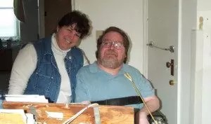 Photo of Debra Ruh and Sean Stapleford, a brilliant Engineer who also happens to be quadriplegic.
