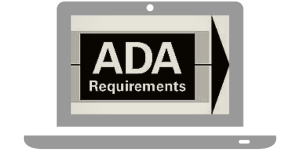 """""""ADA Requirements"""" in a laptop"""