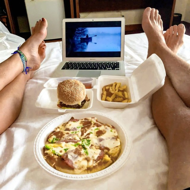 Watching The Notebook in our hotel room in Ho Chi Minh, Vietnam