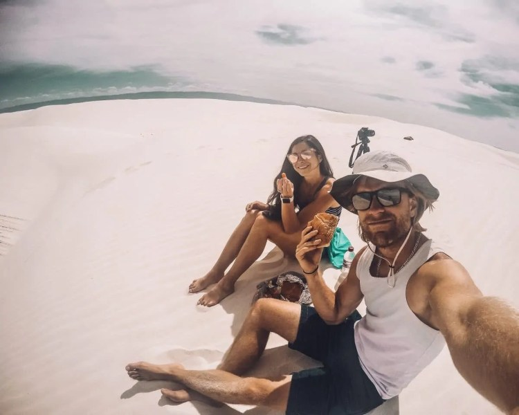 Picnic in White Sands National Monument