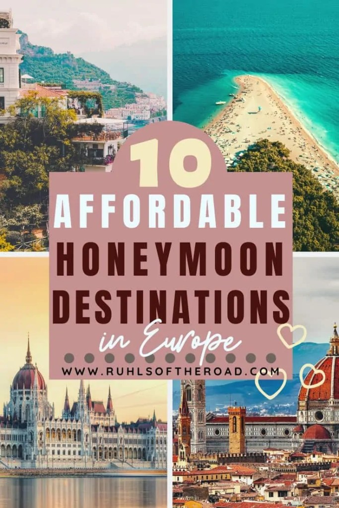 10 affordable honeymoon destinations in Europe. Visit one of these amazing and cheap Europe destinations for a romantic honeymoon and trip of a lifetime. Take a honeymoon on a budget without sacrificing beauty or romance. These cheap honeymoon destinations are perfect for couples on a budget. Travel Europe for a honeymoon you won't forget.