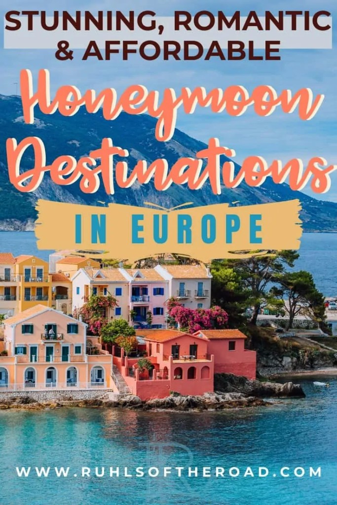 Stunning, romantic and affordable Honeymoon destinations in Europe. Plan a romantic honeymoon getaway with your partner to one of these beautiful European destinations for a bucket list trip to remember. Travel Spain, travel Italy, travel Portugal, travel Ireland, travel Croatia, travel Hungary to beautiful honeymoon destinations that you can afford.
