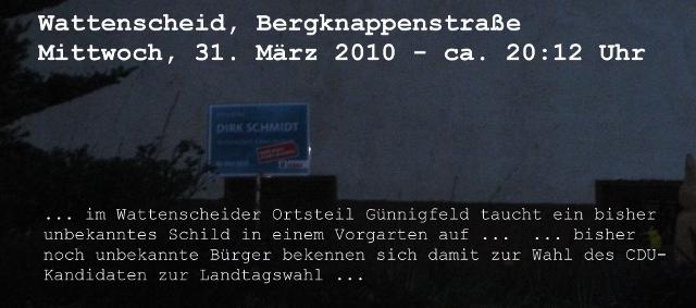 Wir wählen Dirk Schmidt