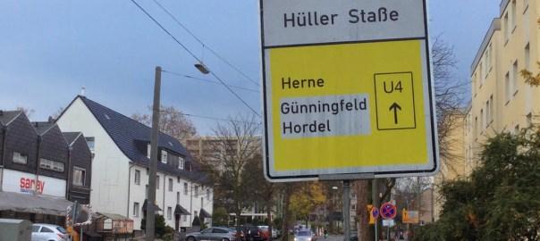 Vollsperrung Hüller Straße