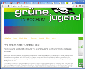 Screenshot gjbochum.jimdo.com