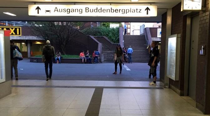 Hinterausgang Bochum Hbf, Buddenbergplatz