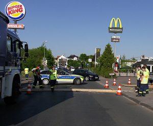 Zeitweilige Vollsperrung der Kreisstraße (Foto: RuhrkanalNEWS)
