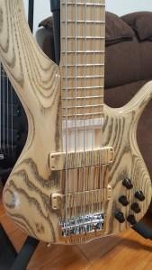 f-bass bn5 5弦ベース フィンガーランプ自作