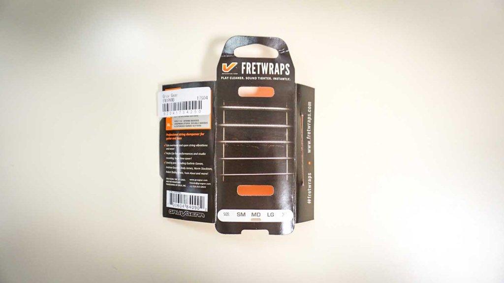 FRETWRAPS(フレットラップ)、5弦ベース用のパッケージ