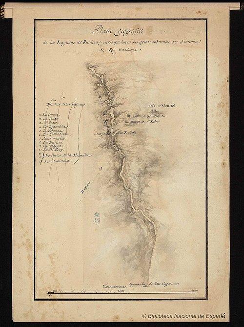 Plano lagunas de Ruidera para Quijote de Sancha