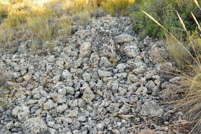 Escombreras del cerro de las Canteras en Ruidera