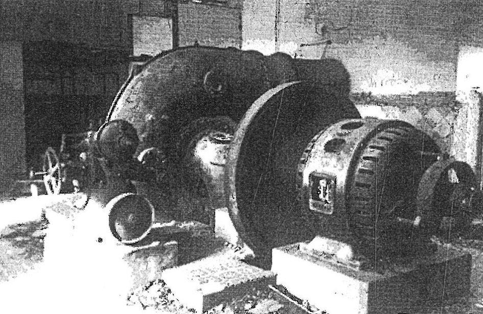 Maquinaria de la central de El Ossero