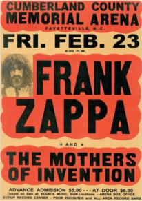 Frank Zappa and the Mothers Poster, Vintage