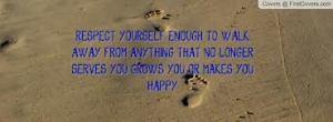 respecteer jezelf
