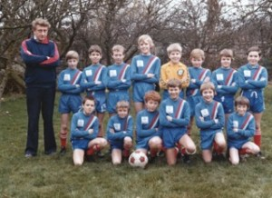 Mike Grimmel's Under 10 teammates (as best as he can remember!): Back Row: Maurice Cuell (Manager), Neil Darby, ??, ??, David McNamara, Matthew Cuell, Graham Bell, Toby ?, John Hardman Front Row: Simon ?, ??, Paul Peplow, Neil Whiting, Mike Grimmel, Gary