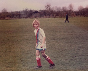 Mike Grimmel playing for the Under 10 side in 1981.