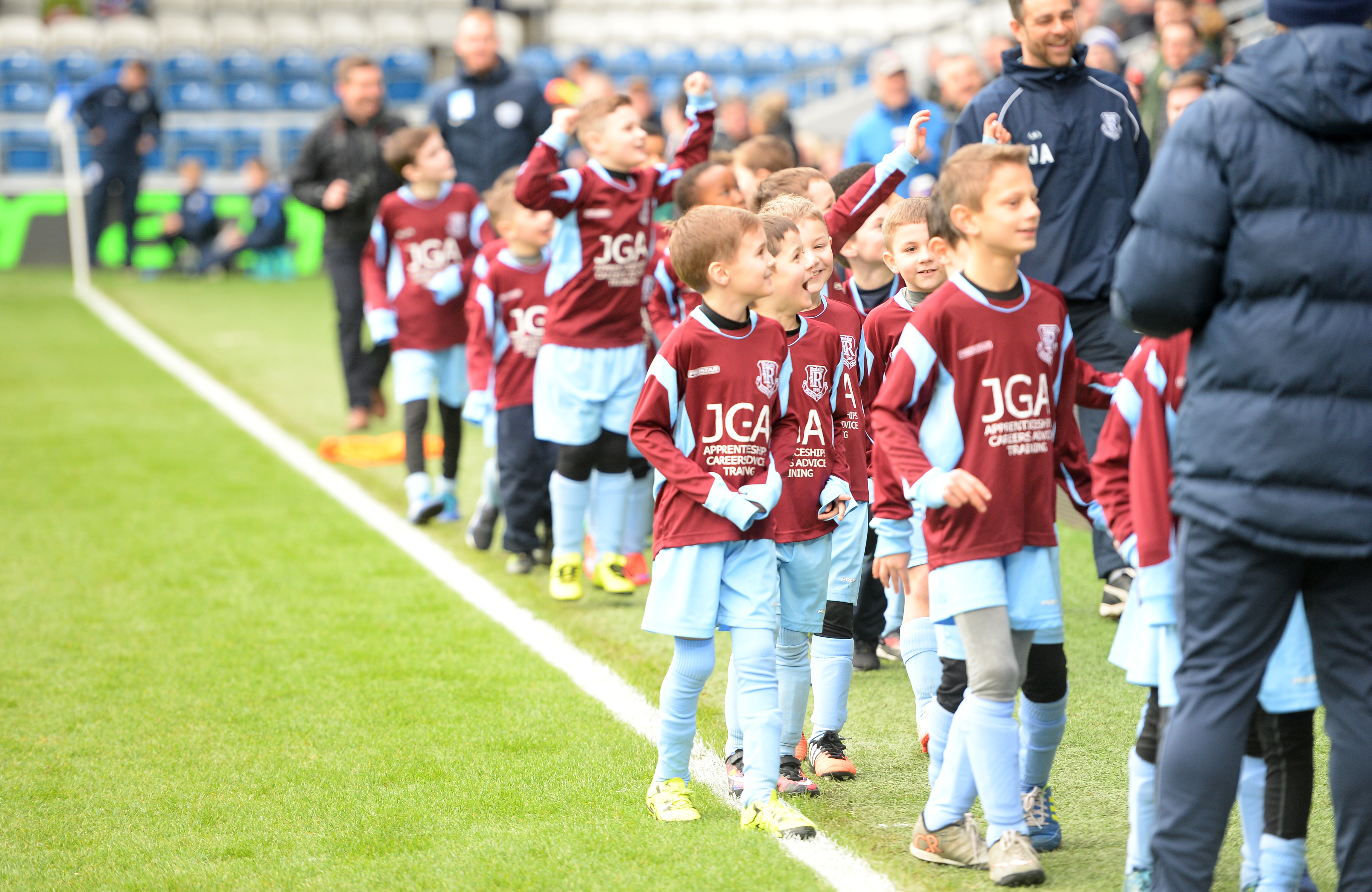 Our Under 7s and 8s were the Guard of Honour at QPR