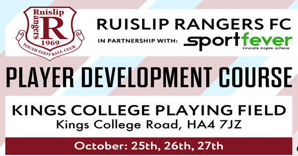 Ruislip Rangers Football Courses during the October Half-Term Holidays