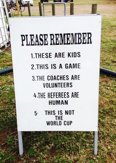 A reminder about behaviour on matchdays