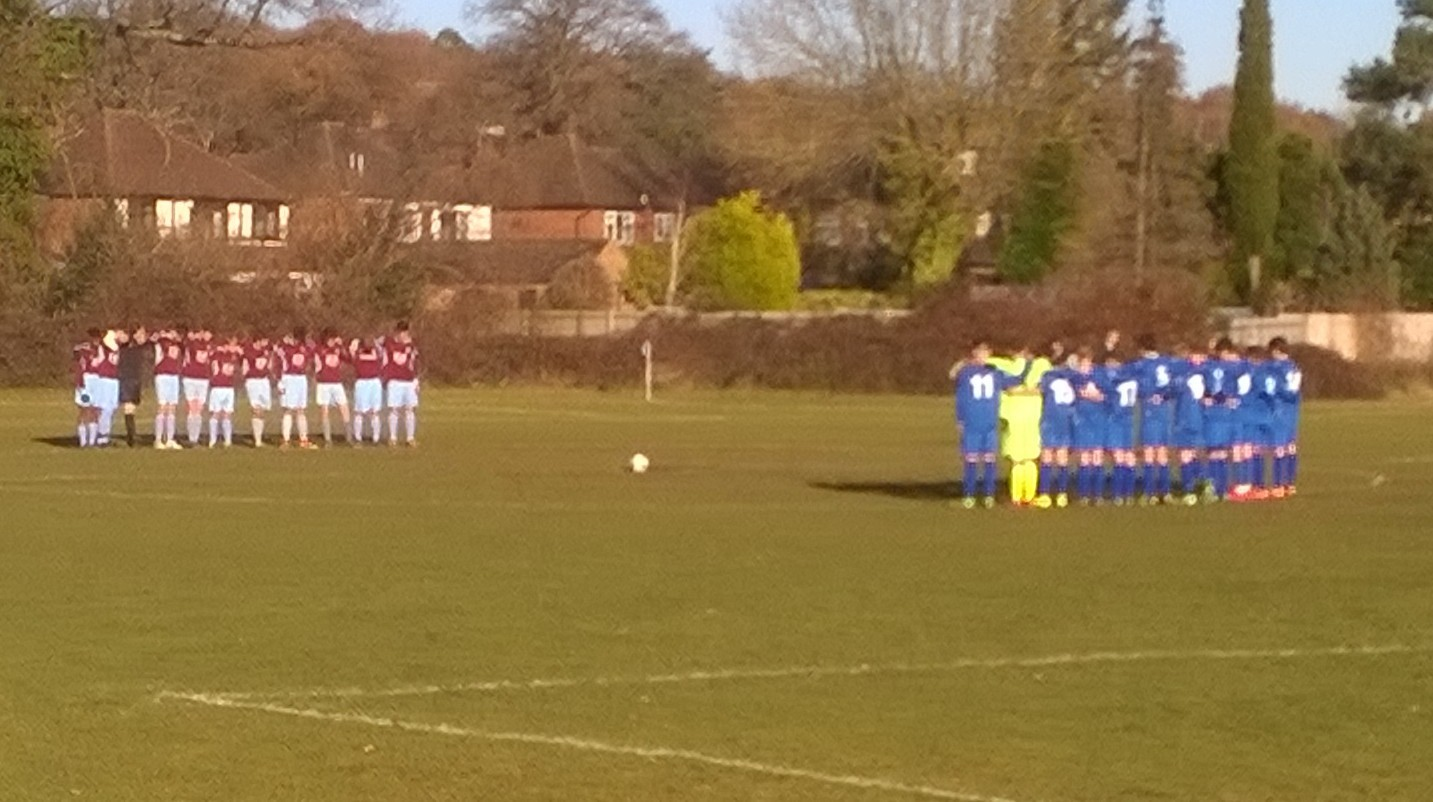 A minute's silence in memory of the Chapecoense players and staff who died