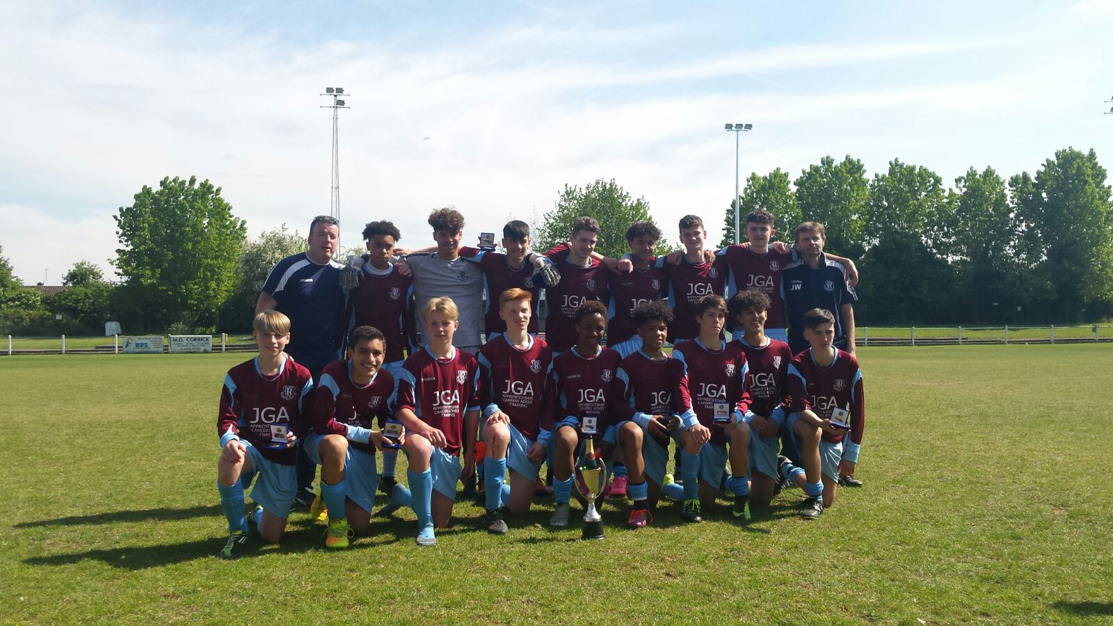 Our Under 15W team win the League Cup
