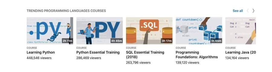 linkedin learning python and SQL