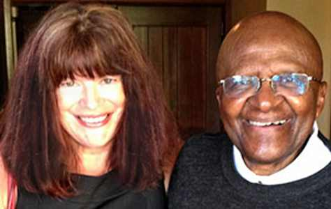 Nancy Tillman with Dr Desmond Tutu