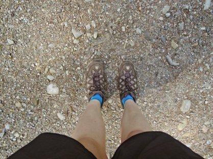feste Schuhe, kann los gehen